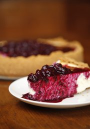 Andrew Pester's Blueberry Cheesecake.