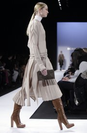 The fall 2011 collection of designer BCBG Max Azria is modeled during Fashion Week in New York on Feb. 10, 2011.