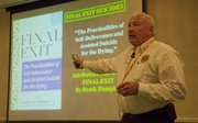 Vernon Geberth, president of PHI Investigations Inc., of Garnerville, N.Y., was in Lawrence Wednesday July 13, 2011, at the SpringHill Suites hotel to talk with law enforcement personnel about homicide investigations.