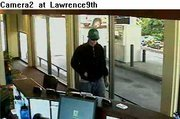 Security cameras at Central National Bank captured these photos of the man who robbed the bank on Thursday.