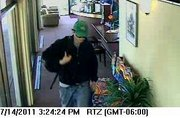 Security cameras at Central National Bank in Lawrence captured these photos of the man who robbed the bank July 15.