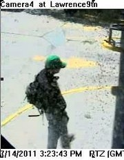 Security cameras at Central National Bank captured these images of the man who robbed the bank Thursday.
