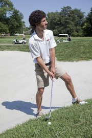 Former Lawrence High golfer Jon Cohen, who will be playing golf at Grinnell College, plays the Lawrence Country Club for the first time Tuesday July 12, 2011.