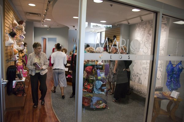 Mario's Closet, a specialty shop for cancer patients, opened for business Friday, July 22, 2011, at Lawrence Memorial Hospital after a ribbon-cutting ceremony. The closet offers wig and salon services, mastectomy bras and prostheses, cosmetics, skin care products and more.