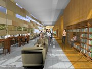 Rendering of Lawrence Public Library interior.