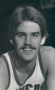 Brad Sanders, pictured here in 1978, played at Kansas University from 1975-79.