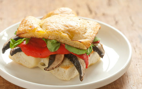 Whole Foods' Portobello Mushroom Supper Sandwich.