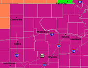An excessive heat warning is in place over much of eastern Kansas through at least Aug. 3, because of high temperatures and even higher heat indices.