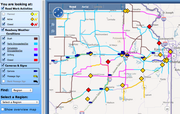 The Kansas Department of Transportation was testing its road conditions map on Friday, August 5, 2011. They hoped to make sure it would stand up to the onslaught of requests it will face during the winter weather season.