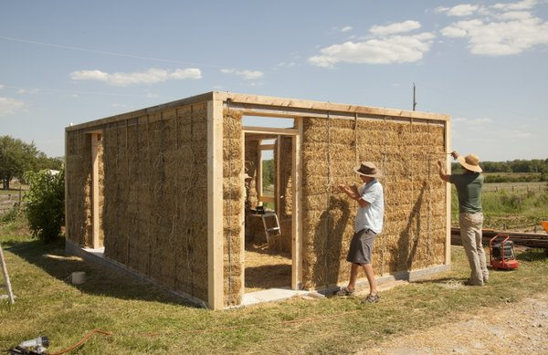 About a dozen people gathered last week in Oskaloosa to learn how to build straw bale buildings. Straw and clay are a renewable building material that more people are turning to in Kansas.