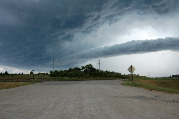 A storm begins to roll over U.S. Highway 40 and Kansas Highway 10 Douglas County in western Lawrence on Sunday, August 7, 2011.