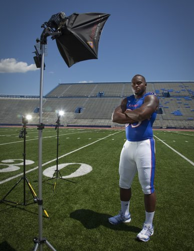 Kansas defensive end Toben Opurum.