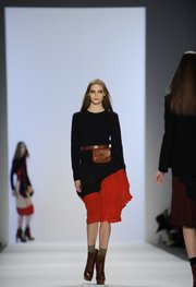 Fall 2011 fashion from designer Jill Stuart is modeled during Fashion Week Feb. 12, 2011, in New York.