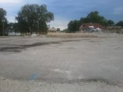 The remains of the old Eudora Middle School. The school, which was built in the 1940s, was razed Wednesday, August 10, 2011.