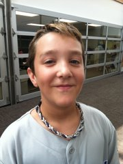 Cameron Stussie, seventh-grader at South Middle School.