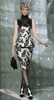 A model walks the runway at the Marc Jacobs Fall 2011 show during Fashion Week in New York, Feb. 14, 2011.
