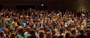 Students sing the alma mater during the closing of the 146th convocation Sunday, August 21, 2011 at the Lied Center.