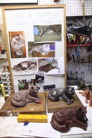From simple photos of a loving pet, Catherine Hale Robins, a local sculptor, fashions a memory.