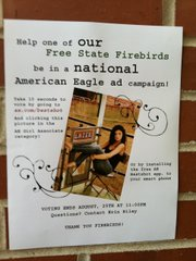 Erin Riley, a student at Free State High School, is angling to be featured in an American Eagle ad campaign — and is looking for voting help from her classmates and others.