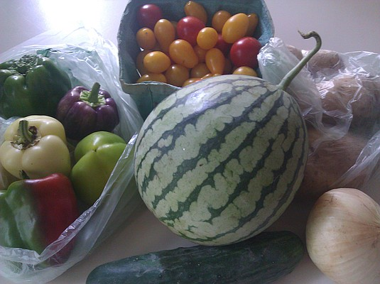 Our CSA produce for week 17.