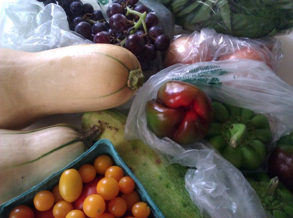 What we received from our CSA on Aug. 29.