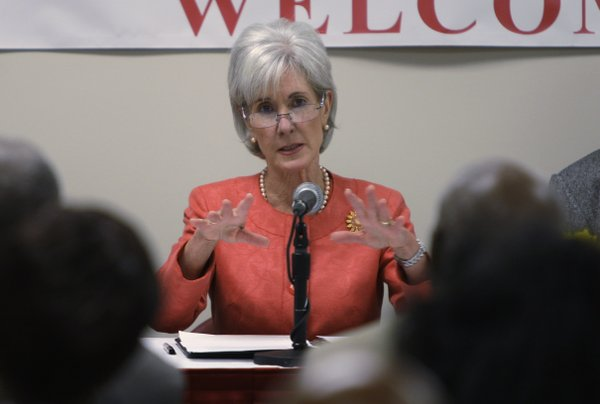 U.S. Secretary of Health and Human Services Kathleen Sebelius speaks at a round table discussion with area seniors on the benefits of the Affordable Care Act, Thursday, June 30, 2011 in Cincinnati. On Wednesday, she announced $40 million in grant funding, partly funded by the Affordable Care Act, to boost public health infrastructure and boost the public health work force.