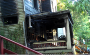 Lawrence Douglas County fire fighters contained a house fire on 1325 Tennessee early Sunday morning. None of the houses 10 occupants were injured.
