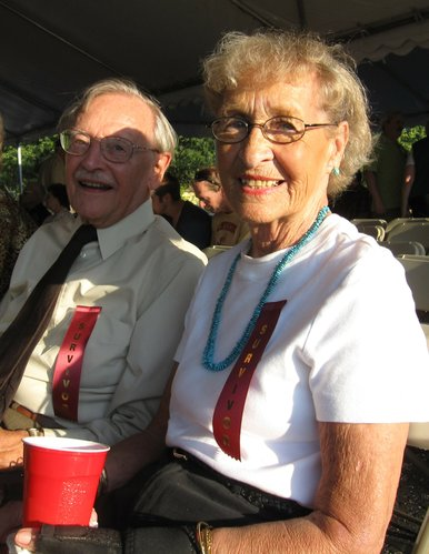 Les and Pat Hannon, longtime Lawrence residents, attend the 10th anniversary celebration of Lawrence Memorial Hospital's Oncology Center. Les is a prostate cancer survivor and his wife is a breast cancer survivor.