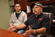 Brock and Steve Robson, of Ace Bail Bonds, 2400 Franklin Road in Lawrence, are a father and son team that work to bail people out of jail. They are held liable for the cost of the entire bond of their clients if they don't show up for court, and sometimes they have to go searching for a person who has skipped on a bond.