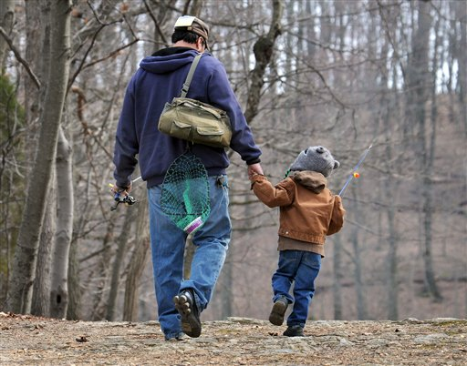 New research suggests that dads are less likely to die of heart-related problems than childless men are. The study by AARP, the government and several universities is the largest ever look at men, fertility and mortality. (AP Photo/Intelligencer Journal, Marty Heisey)