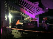 A 1985 Chevy Camaro crashed into Gazebo Apartments on the 2400 block of West 24th Street just before 1 a.m. Tuesday, Sept. 27, 2011.