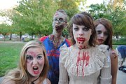 The undead get ready for the fifth-annual Lawrence Zombie Walk, Thursday, Oct. 6, at South Park.