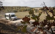 A bus from an Atria Senor Living residence in Topeka takes people on a scenic fall drive on the Scenic River Road between Lecompton and the Shawnee County line.