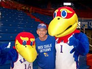 Terry Dahl became a fan of KU sports after switching allegiances from his alma mater, Kansas State University.