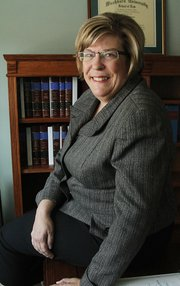 Attorney Carolyn Simpson has been practicing law in Lawrence for nearly 15 years.