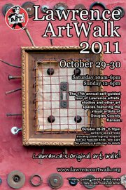 The 2011 ArtWalk poster with art from Tami Clark.