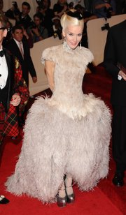 Daphne Guinness arrives May 2 at the Metropolitan Museum of Art Costume Institute gala in New York.