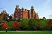 Woodburn Hall, at West Virginia University, sits atop one of the many hills in and around Morgantown. And doesn't it look at bit like Old Fraser Hall?