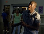 Lawrence High senior J'Qui Audena practices dance moves in preparation for an upcoming ball Sunday, Nov. 6, 2011, at Dance Gallery, 4940 Legends Dr.