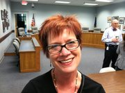 Deena Burnett, language arts teacher at West Junior High School, is president of the Lawrence Education Association.