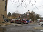 Lawrence-Douglas County Fire Medical crews responded to a two-alarm fire in the fifth floor of Malott Hall on the KU campus at about 7 a.m. Saturday. Malott Hall is home to the chemistry department. Crews were still assessing the damage and trying to determine a cause for the fire as of Saturday afternoon.