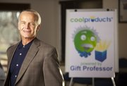 Tony Schmidt, president and developer of Lawrence-based CoolProducts.com and Gift Professor, is pictured Tuesday, Nov. 29, 2011. Schmidt described Gift Professor as an online gift-finding tool by which a customer completes a survey designed to generate and select items from an online catalog for a friend or loved one.