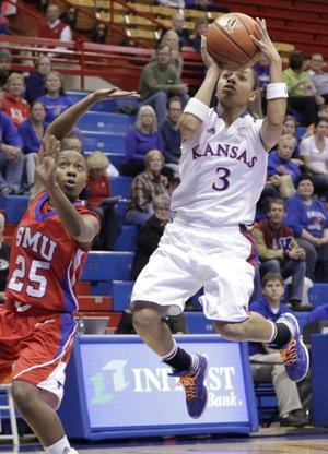KU women's basketball takes down SMU, 75-52   KUsports.com