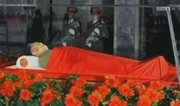 In this image made from KRT television, the body of North Korean leader Kim Jong Il is laid in a memorial palace in Pyongyang, North Korea, Tuesday, Dec. 20, 2011.