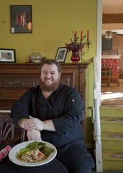 "Chris Feaster is the co-owner and head chef of Feaster&squot;s Bistro, 519 Ames St. Baldwin City. Feaster uses locally sourced ingredients in a ""farm-to-table"" format."