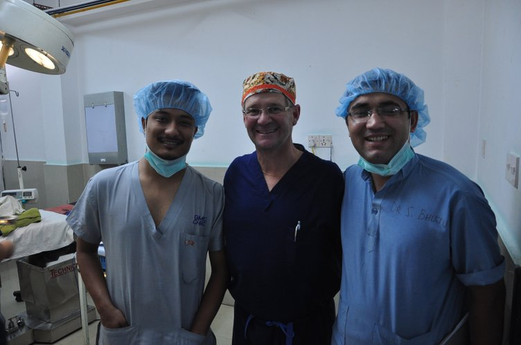 Dr. Doug Cusick, a plastic surgeon from Kansas City, center, along with two Nepali doctors volunteered to help poor, rural residents during a medical mission trip that was organized through the Kansas City-based World Outreach Foundation.