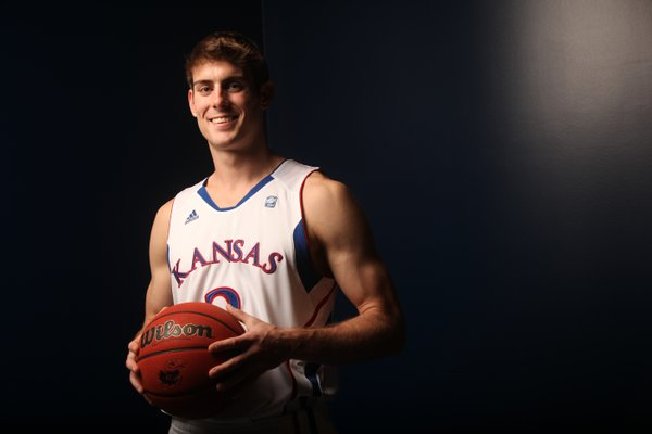 Kansas University guard Conner Teahan, a fifth-year senior, says he has enjoyed playing almost 22 minutes a game for the Jayhawks this year after starting his KU career as a walk-on.