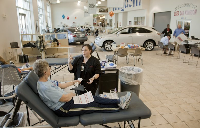Community Drives Are Only Option In Lawrence For Donating Blood - Toyota dealers in kansas