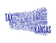 This word cloud was created using text from the Democratic response to Kansas Gov. Sam Brownback's 2012 State of the State address. The larger the font, the more often the word was used in the response.