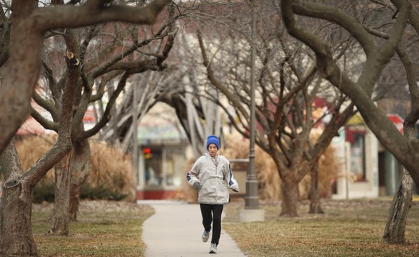 Brian Daldorph, Lawrence, took a morning run despite cold temperatures earlier this month. Not everyone has Brian's discipline, that's why Lawrence Memorial Hospital is offering a new program this winter that challenges residents to do a v